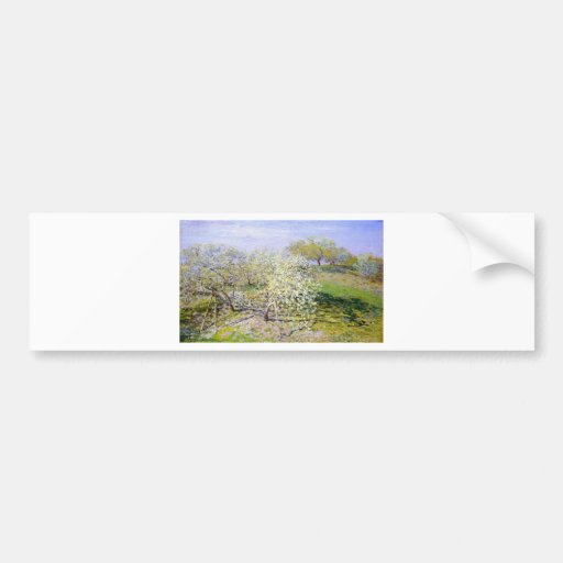 Claude Monet Apple Tree Bumper Sticker