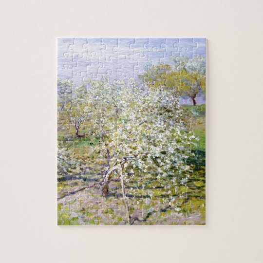 Claude Monet Apple Tree Jigsaw Puzzle