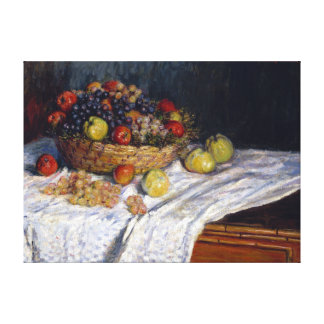 Claude Monet Apples and Grapes Canvas Print