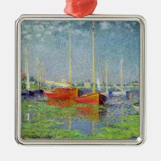 Claude Monet | Argenteuil, c.1872-5 Silver-Colored Square Decoration