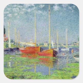 Claude Monet   Argenteuil, c.1872-5 Square Sticker