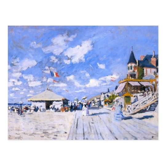 Claude Monet: At the Beach of Trouville Postcard