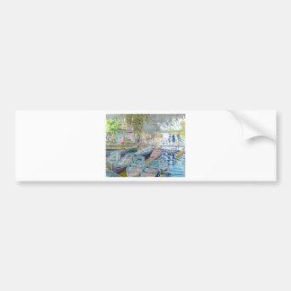 Claude Monet - Bathers at La Grenouillère Bumper Sticker