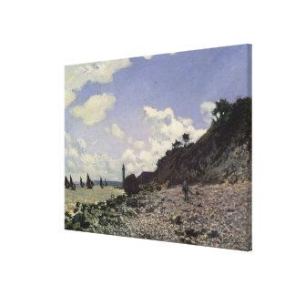 Claude Monet | Beach at Honfleur, 1864 Canvas Print