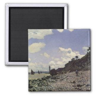 Claude Monet | Beach at Honfleur, 1864 Magnet