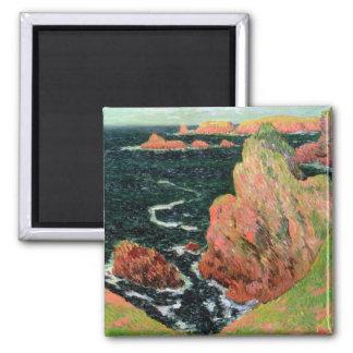 Claude Monet | Belle Ile Square Magnet