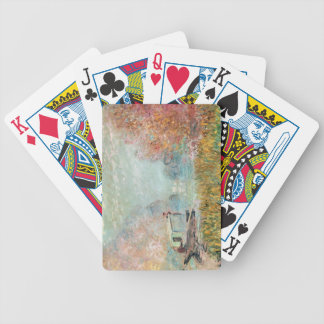 Claude Monet |  Boat Studio on the Seine Bicycle Playing Cards