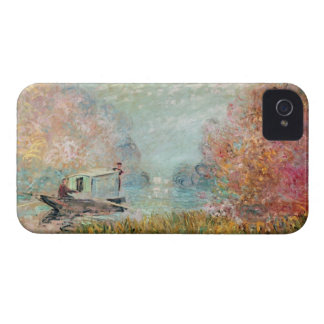 Claude Monet |  Boat Studio on the Seine Case-Mate iPhone 4 Case