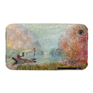 Claude Monet |  Boat Studio on the Seine iPhone 3 Covers