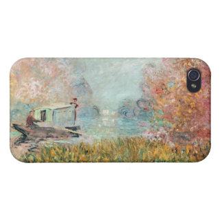 Claude Monet |  Boat Studio on the Seine iPhone 4 Cases
