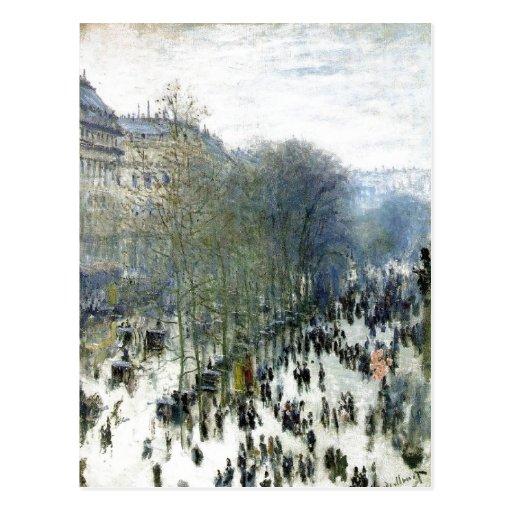 Claude Monet, Boulevard des Capucines, 1873 Oil on Post Cards