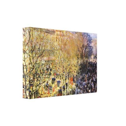 Claude Monet - Boulevard des Capucines in Paris Stretched Canvas Prints