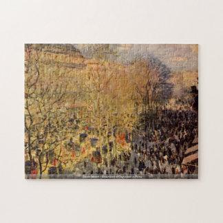 Claude Monet - Boulevard of Capucines in Paris Jigsaw Puzzle