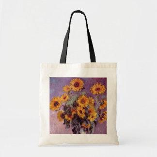 Claude Monet - Bouquet of Sunflowers Bags