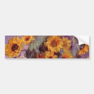 Claude Monet - Bouquet of Sunflowers Car Bumper Sticker