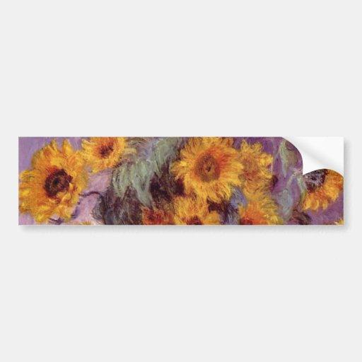 Claude Monet - Bouquet of Sunflowers Bumper Sticker