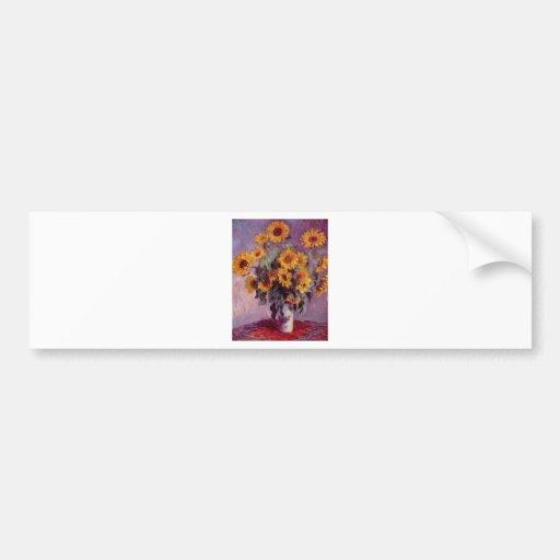 Claude Monet Bouquet of Sunflowers Bumper Stickers