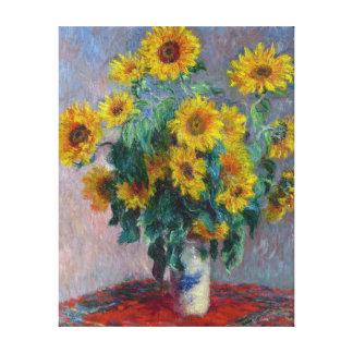 Claude Monet Bouquet of Sunflowers Canvas Print