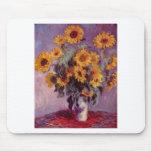 Claude Monet Bouquet of Sunflowers Mousepad