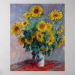 Claude Monet Bouquet of Sunflowers Poster