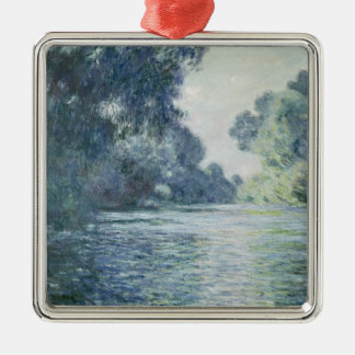 Claude Monet | Branch of the Seine near Giverny Silver-Colored Square Decoration