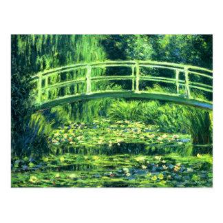 Claude Monet: Bridge Over a Pond of Water Lilies Postcard