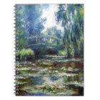 Claude Monet Bridge Over Water Lily Pond Notebook