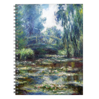 Claude Monet Bridge Over Water Lily Pond Notebooks