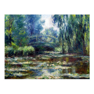 Claude Monet Bridge Over Water Lily Pond Postcard
