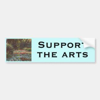 Claude Monet Car Bumper Sticker