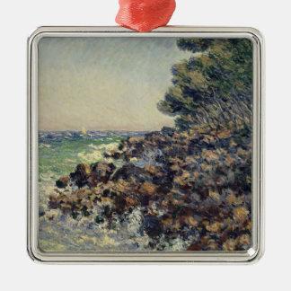 Claude Monet | Cap Martin, 1884 Silver-Colored Square Decoration