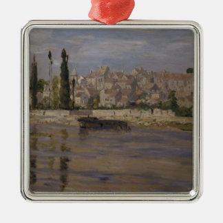 Claude Monet   Carrieres-Saint-Denis, 1872 Silver-Colored Square Decoration