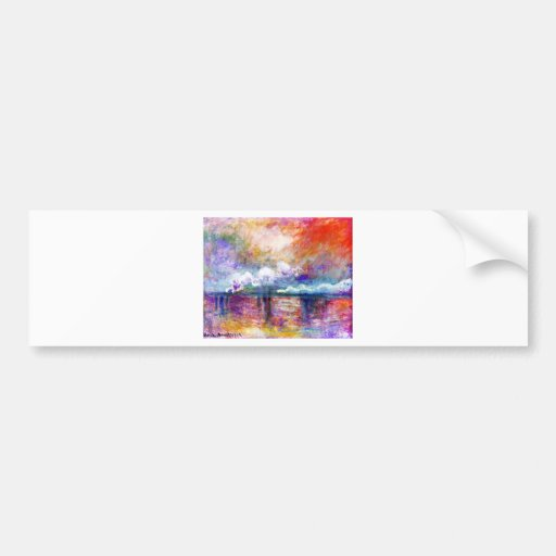 Claude Monet Charing Cross Bridge Bumper Sticker