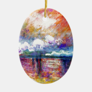 Claude Monet Charing Cross Bridge Christmas Ornament