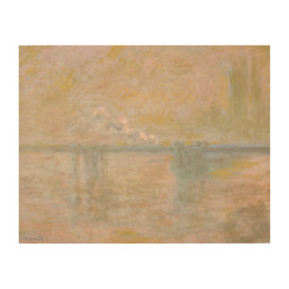 Claude Monet - Charing-Cross Bridge in London Wood Canvases