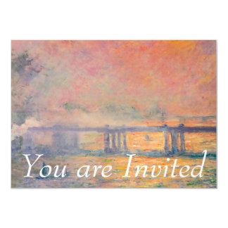 Claude Monet Charing Cross Bridge Invitations