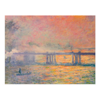 Claude Monet Charing Cross Bridge Postcard