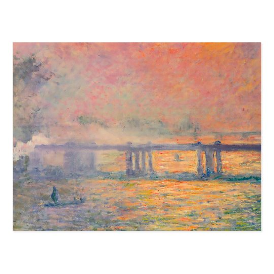 Claude Monet Charing Cross Bridge Postcard