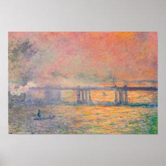 Claude Monet Charing Cross Bridge Poster