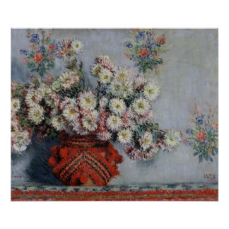 Claude Monet | Chrysanthemums, 1878 Poster