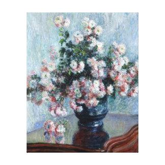 Claude Monet Chrysanthemums Canvas Print