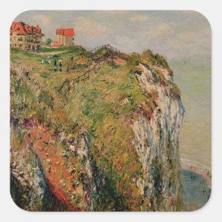 Claude Monet | Cliff at Dieppe, 1882 Square Sticker