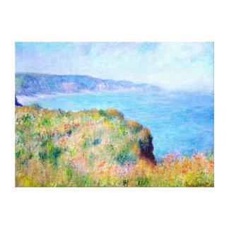Claude Monet: Cliff Near Pourville Canvas Print