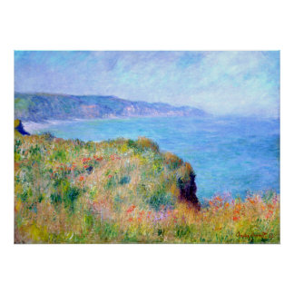 Claude Monet: Cliff Near Pourville Poster
