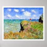 Claude Monet - Cliff Top Walk At Pourville - Impre Poster
