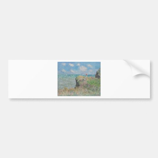 Claude Monet - Cliff Walk at Pourville Bumper Sticker