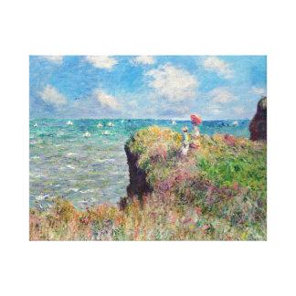 Claude Monet Cliff Walk at Pourville Canvas Print
