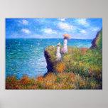 Claude Monet: Cliff Walk at Pourville Poster
