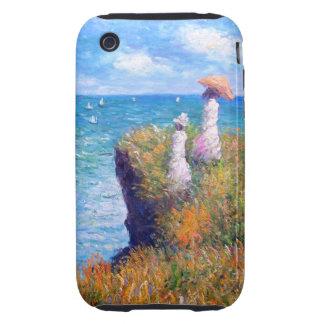 Claude Monet: Cliff Walk at Pourville Tough iPhone 3 Case