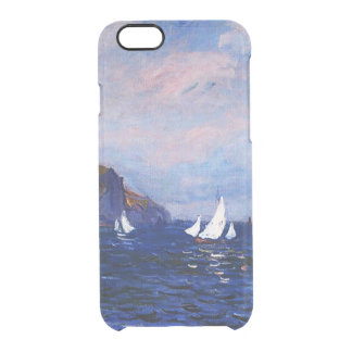 Claude Monet-Cliffs and Sailboats at Pourville Clear iPhone 6/6S Case